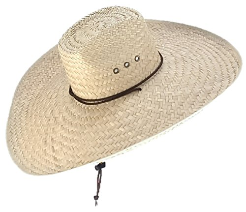 Sharpshooter Big Boss Hoss Sun Protection River Beach Party Cowboy Sombrero Hat - Palm Leaf Shade