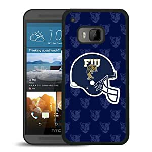 NCAA FIU Golden Panthers 4 Black Hard Shell Phone Case For HTC ONE M9