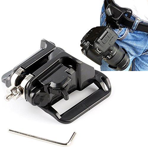 Zonefly DSLR Camera Hard Plastic waist belt buckle button - camera hanger Belt Clip Holster Holder fast loading rig for Canon 5d2 Nikon D7100 D7200 D7000 Sony Pentax Olympus (Camera Belt Buckle)