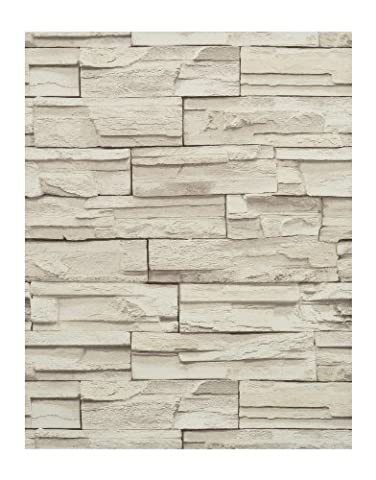 York Wallcoverings RN1040 Modern Rustic Travertine Wallpaper (Fireplace Wallpaper)