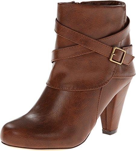 Madden Girl Women's Plaaza Cognac Paris Boot 8.5 M