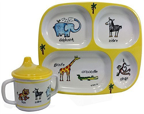 Baby Cie Infant Spoon - Baby Cie Jungle Animals, Melamine Plate & Sippy Cup - 2 Piece Set