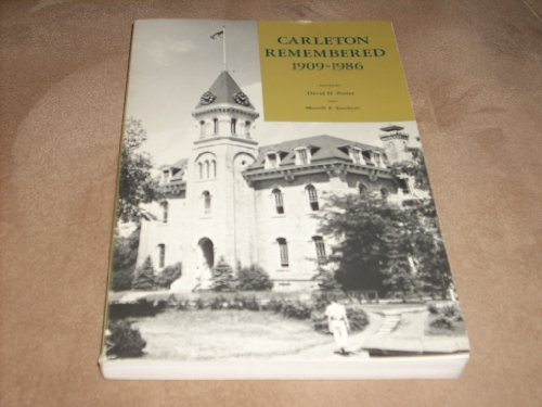 - Carleton Remembered 1909-1986