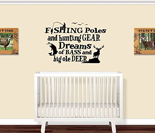 Fishing Poles and Hunting Gear (Little Boys Room) ~ WALL DECAL 20
