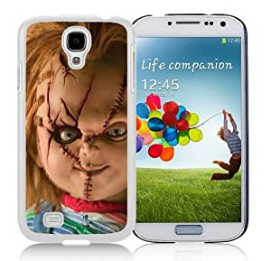 High Quality Samsung Galaxy S4 I9500 Case ,Cool And Fantastic Designed Case With Scary Chucky Doll White Samsung Galaxy S4 I9500 Cover