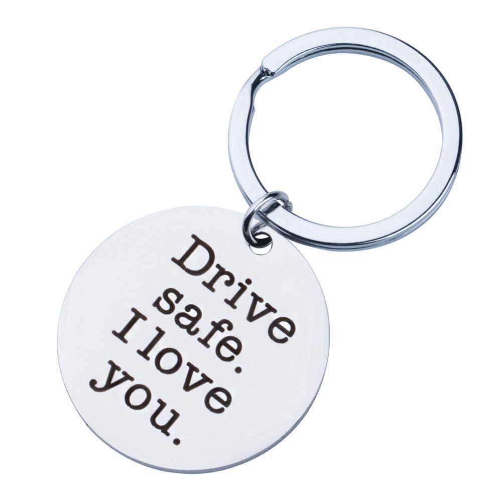 Drive Safe I Love You Keychain Boyfriend Girlfriend Gifts Keyring Wife Husband Gifts