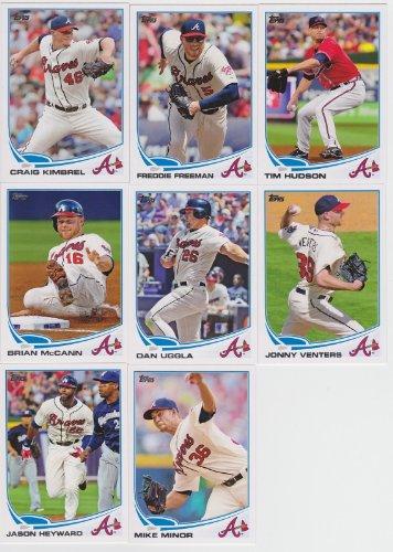 2013 Atlanta Braves Topps Complete Regular Issue Baseball Complete Mint 19 Basic Card Team Set