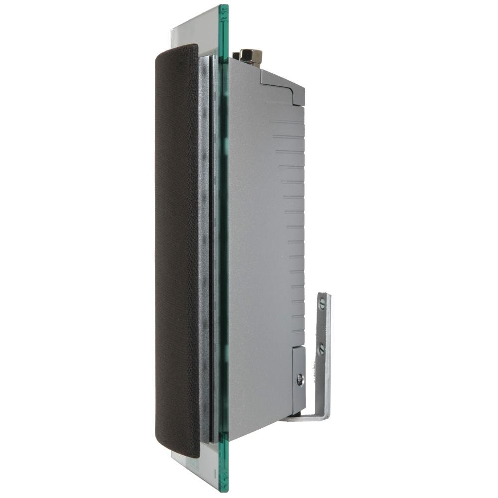Waterfall Hurricane EVO Glass and Aluminum Speaker with Grey Grill (Sliver, Single)