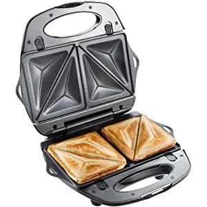 T-fal 1500637135 SW6100 EZ Clean Easy to Clean Nonstick Sandwich and Waffle Maker with Removable Dishwasher Safe Plates…