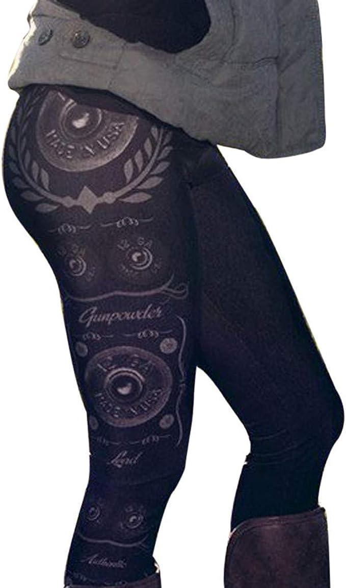 cinnamou Pantalones Mujer, Pantalon Estampado Cintura Alta Leggins Skinny PantalóN Leggings Fitness: Amazon.es: Ropa y accesorios
