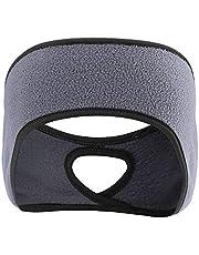 Ponytail Headband for Woman Fleece Ear Warmer Headband Pefer for Outdoor Sports Running Yoga Skiing Workout Cycling Bike Sports