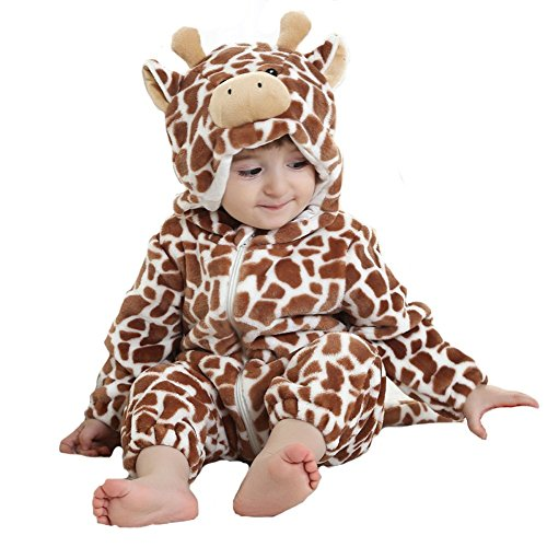 Tonwhar Inflant&Toddler Coffee Milk Cow Romper Costume (100(Height:31