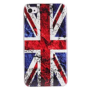 DD Black Spots British Flag Pattern ABS Back Case for iPhone 4/4S