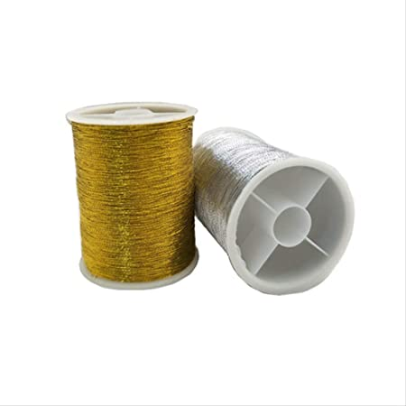 Hilo de coser Oro/Plata 109 Yardas Máquina De Coser Hilos De ...