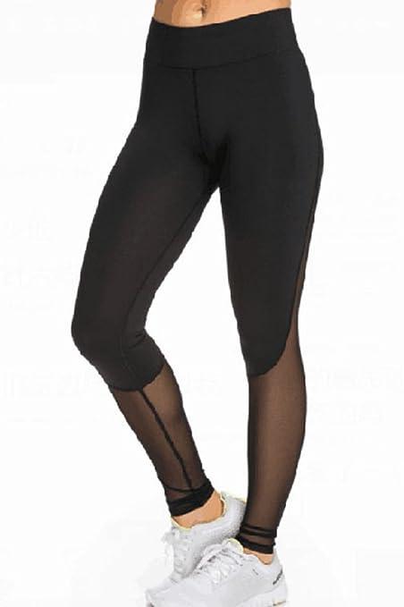 super quality limpid in sight finest fabrics New Ladies Black Mesh Insert Sports Gym Leggings Club Wear ...