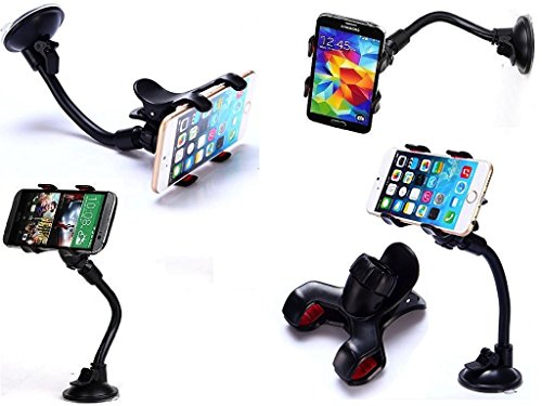 (Car Mount, RuvTech, Cell Phone Car Holder, Car Holder for Cell Phone, Car Holder for or All Phones iPhone, Galaxy, HTC, Note etc. Car Mount for Cell Phones. Universal car Holder. iPhone car Holder)