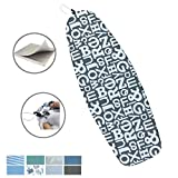 18 x 50in Heat Resistance Metallic Ironing Board Cover Durable Felt Material Standard Size Multi-Color Choices,With Elastic Cord, Easily Handle and Fits Board Beautifully (Letter B)