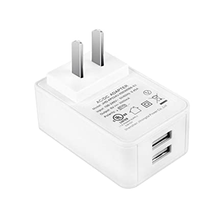 Amazon Com Gowoops 5v 3a Dual Usb Port Power Supply Ul Listed