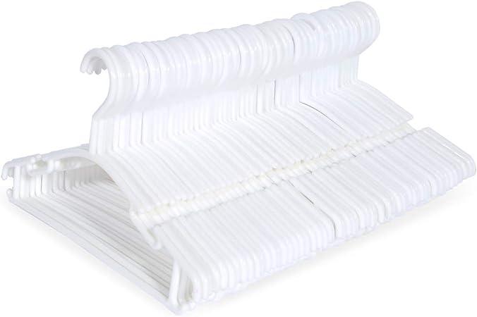 Sfesnid Lot de 40 Cintres V/êtements pour Enfants B/éb/és en Plastique de Stockage Cintres pour la Longueur de 27.5cm avec 3 Cha/înes de Cintres en Plastique