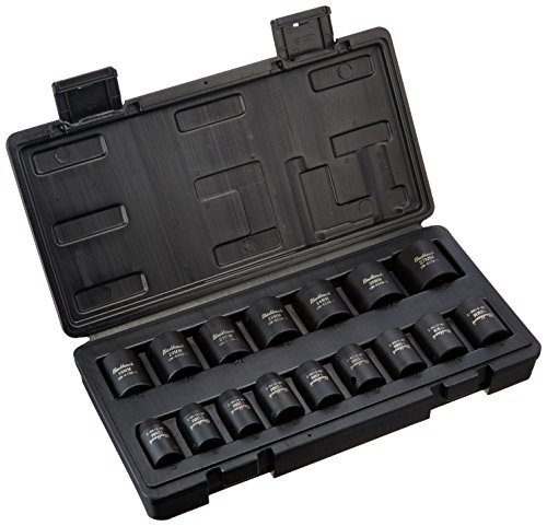 Blackhawk By Proto UW-616MS Drive Metric Impact Socket Set, 1/2-Inch, 16-Piece