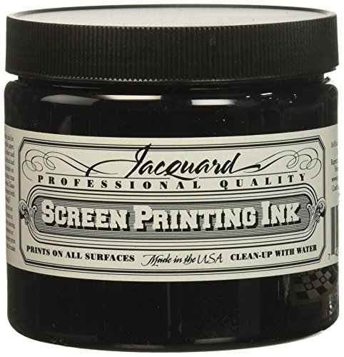 Jacquard Jac-JSI3117 Screen Printing Ink, 16 oz, Black by Jacquard