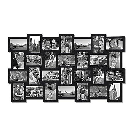 Amazon.Com - Adeco 28-Opening Black Wood Basket-Weave Design Wall