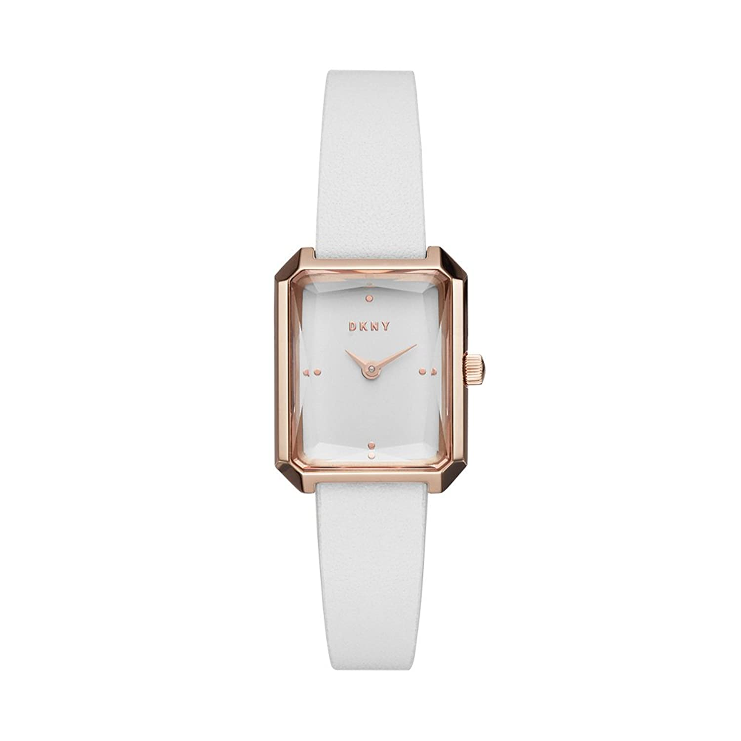 Amazon.com: DKNY Women's 'Cityspire' Quartz Stainless Steel and Leather  Casual Watch, Color:White (Model: NY2645): Watches