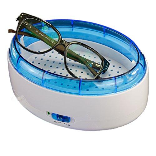 Ultraschallreiniger Brillenreiniger Schmuckreiniger Gold Silber Reiniger mit Reinigungsbürste 600ml