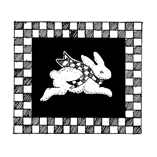 Rabbit Block with Checked Border Stamp ()