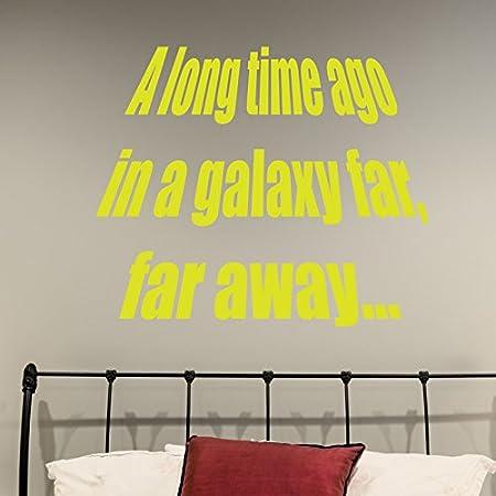 Decorative Wall Sticker Decals Long Time Ago In A Galaxy Far Far ...