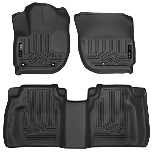 Husky Liners 99491 Black Weatherbeater Front & 2nd Seat Floor Liners 2015-19 Honda Fit (Best Price For Honda Fit 2019)