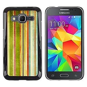 Paccase / Dura PC Caso Funda Carcasa de Protección para - Stripes Painting Watercolor Rainbow Art - Samsung Galaxy Core Prime SM-G360