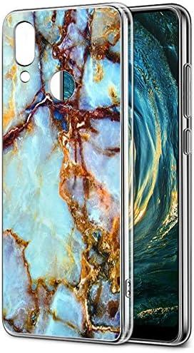Coque Huawei P20 Lite, Eouine Etui en Silicone 3d Transparente avec Motif Marbre Fun Fantaisie Peinture Dessin [Antichoc] Housse de Protection Coque ...
