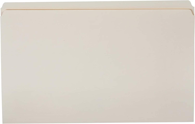 AmazonBasics File Folders - Straight Tab, Manila, Legal Size, 100 per Box