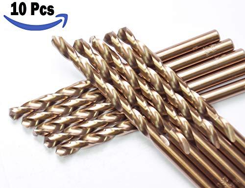 High Speed Steel M35 HSS Cobalt Jobber Length Twist Drill Bits General Purpose HSS Cobalt Drill Bit 135 Deg.Split Point Drilling Steel, Metal, Iron.… (9/32)