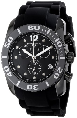 Swiss Legend Men's 10127-01-SA Commander Diamonds Analog Display Swiss Quartz Black Watch