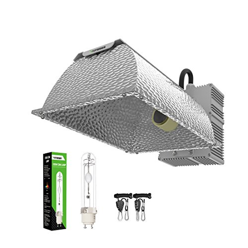 Metal Halide Reflector - VIVOSUN 315W Ceramic Metal Halide CMH/CDM Grow Light Kit, ETL Listed, High-Reflectivity Vega Aluminum Hood, 120/240V Ballast, Full-Spectrum CMH Hydroponic Grow Light and Suspension System