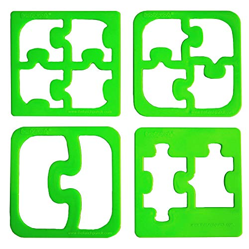 Lunch Punch Sandwich Cutters, Set of 4, Puzzle Shape