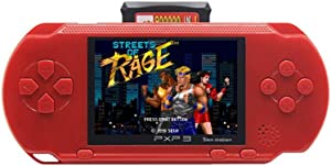 CZT 2.7 inch 16Bit sega Video Game Console Retro Game Handheld Player Portable Game Console Free 156 SEGA Games Designed for SEGA Rechargeable Lithium Battery (Red)