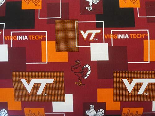 Virginia Tech New Pattern Offset Cotton Fabric VT1115
