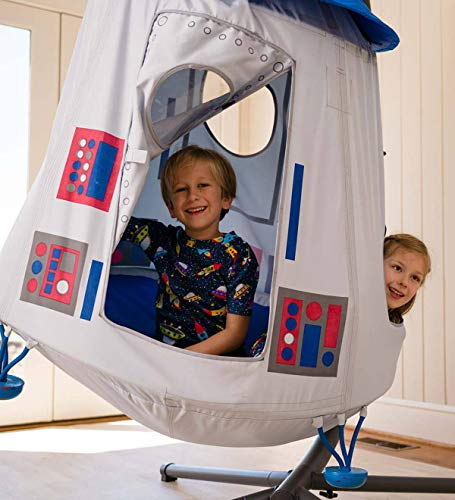 HearthSong® Space Capsule Hangout Hanging Play Tent & Crescent Stand Special