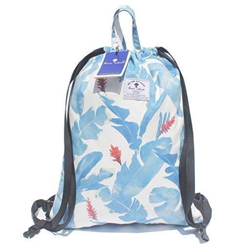 Original Floral Drawstring Bag String Backpack for Travel,Gym,School,Beach (O【Large】) ()