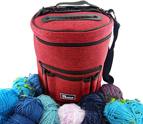 Knitting With Two Colors Carrying Yarn : Best yarn bag organizer for knitting portable light