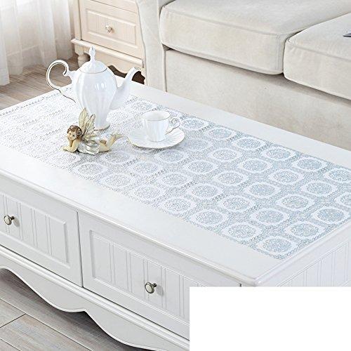 Dresser tv cabinet mat,Gilt silver table cloth,Tea table mats,Plastic rural european tablecloth-D 50x100cm(20x39inch) (Silver Gilt Table)