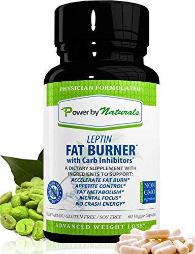 PbyN - Dr Formulated - Leptin Fat Burner with Carb Inhibitor, Metabolic Natural Weight Loss Supplement, Thermogenic Fat Burn for Men and Women, Appetite Suppressant, Carb Blocker, 60 Diet Pills (Best Natural Supplements For Weight Loss)