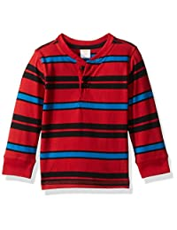 Gymboree baby-boys Red and Blue Striped Henley