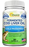 Fermented Cod Liver Oil - 180 Capsules - Fish Oil ...