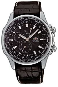Orient Men's CEY04004B World-Time Black Automatic Watch