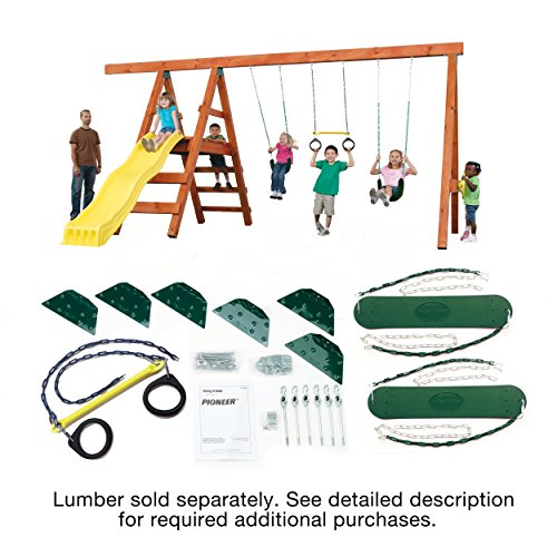 Pioneer Custom DIY Play Set Hardware Kit (wood not - Slide Trapeze N Swing