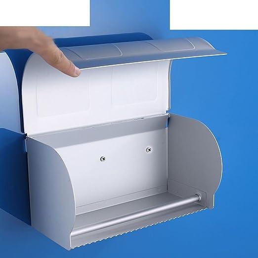 caja de aluminio de espacio Baño impermeable rodillo acolchado bandeja caja alargada de papel higiénico Caja para papel: Amazon.es: Bricolaje y herramientas